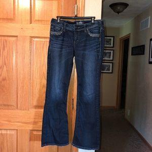 Silver Jeans sz 30/31 Bootcut Denim Suki